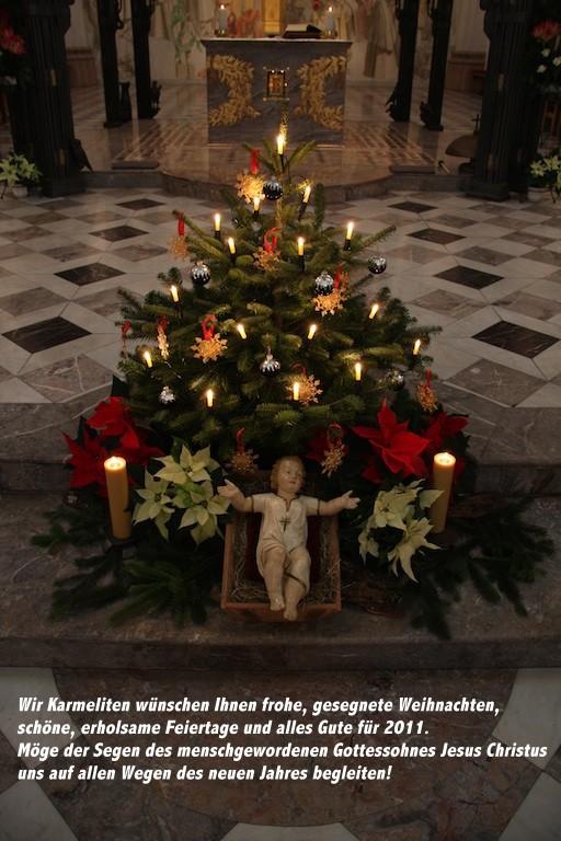 Frohe Und Gesegnete Weihnachten.Frohe Gesegnete Weihnachten 2010 Karmelitenkloster Würzburg
