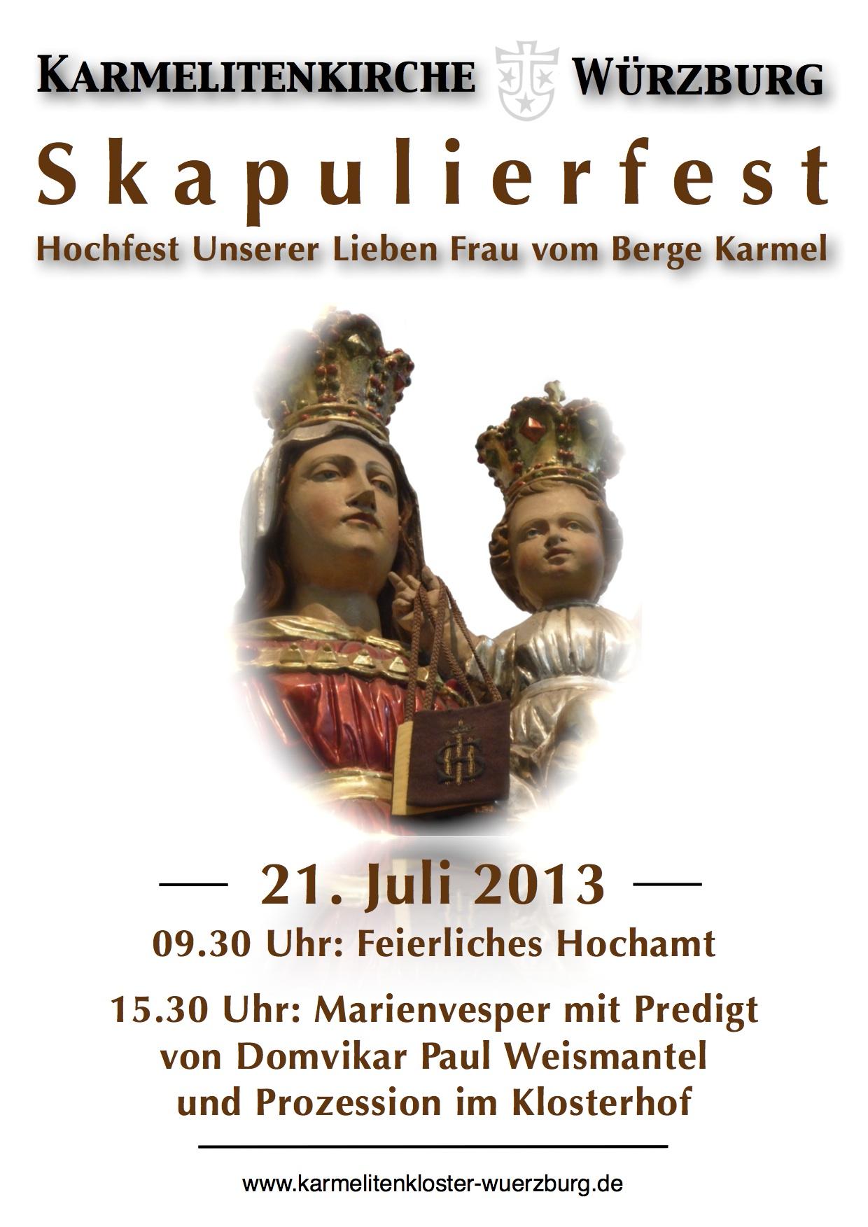 Skapulierfest 2013